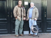 Frank and Chris in front of Anne Frank's house (Amsterdam 2009)